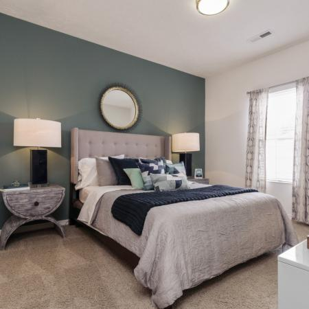 Spacious bedrooms at The Residence at Barrington in Aurora, OH