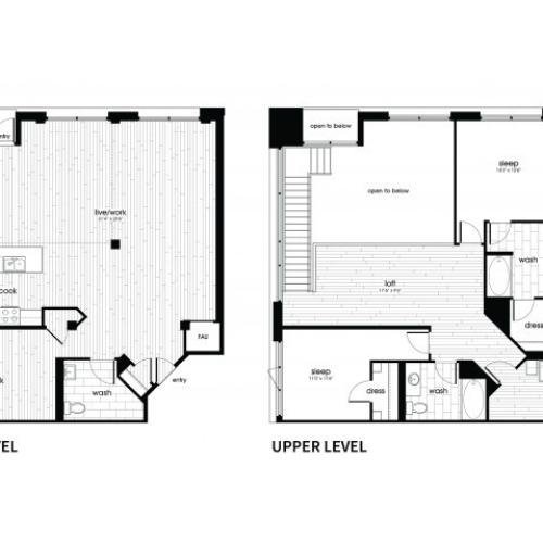B7 Floorplan at Vela on Ox Apartments in Woodland Hills, CA