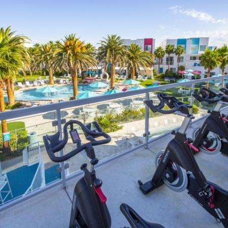 Spin bikes at South Beach Apartments in Las Vegas, NV
