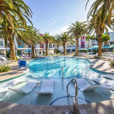 Pool at South Beach Apartments in Las Vegas, NV