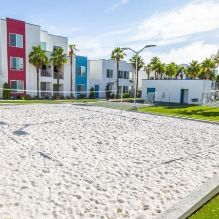 Volleyball court at South Beach Apartments in Las Vegas, NV