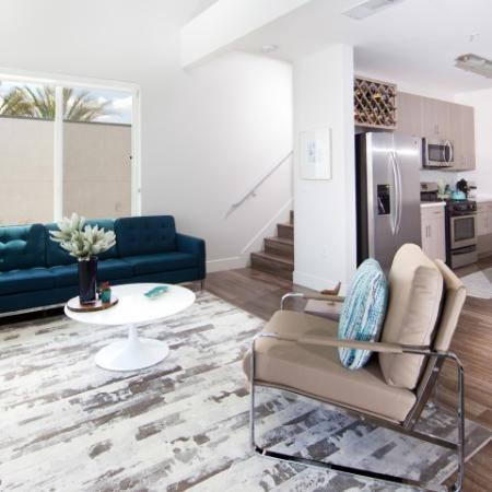 Living room at South Beach Apartments in Las Vegas, NV