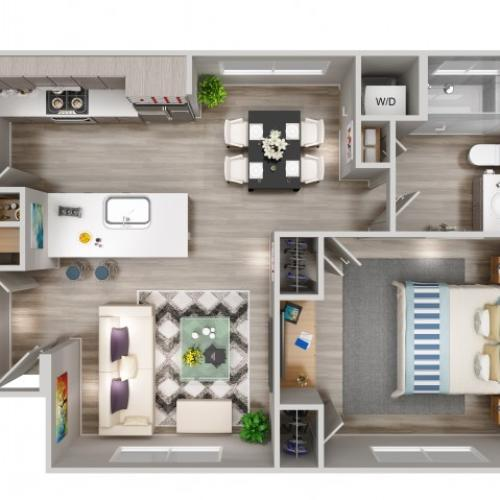 A1 Floorplan at South Beach Apartments in Las Vegas, NV
