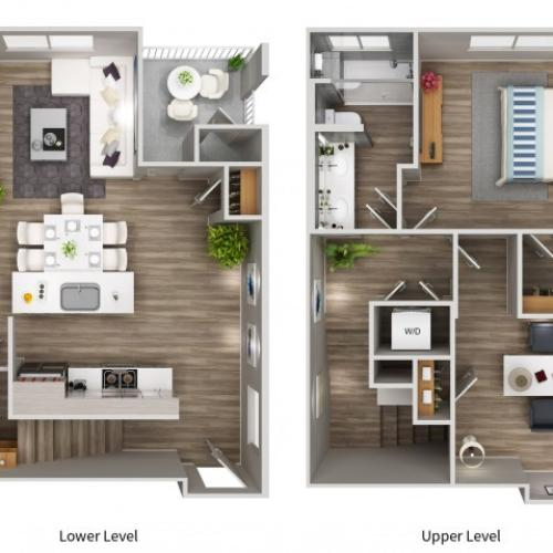 A5LWTH Floorplan at South Beach Apartments in Las Vegas, NV
