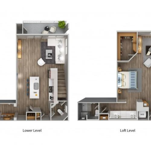 A7LWL Floorplan at South Beach Apartments in Las Vegas, NV