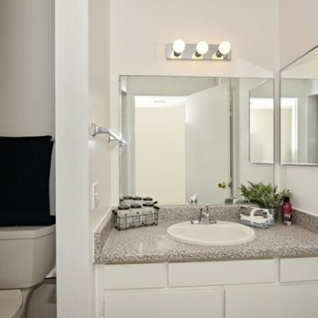 Bathroom at Canyon Rim apartments in San Diego CA