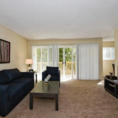 Living room at Canyon Rim apartments in San Diego, CA
