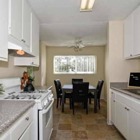 Kitchen at Canyon Rim apartments in San Diego, CA