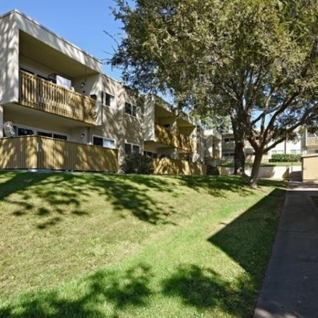 Landscaping at Canyon Rim apartments in San Diego, CA
