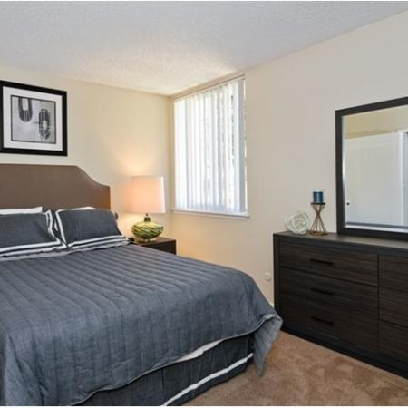 Bedroom at Canyon Rim apartments in San Diego, CA