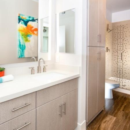 Bathroom at South Beach apartments in Las Vegas, NV