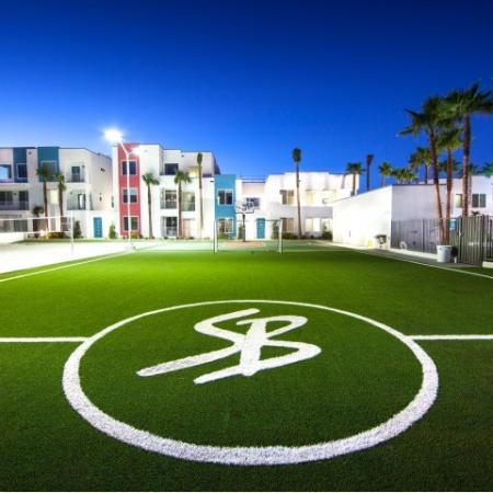 Soccer field at South Beach apartments in Las Vegas, NV