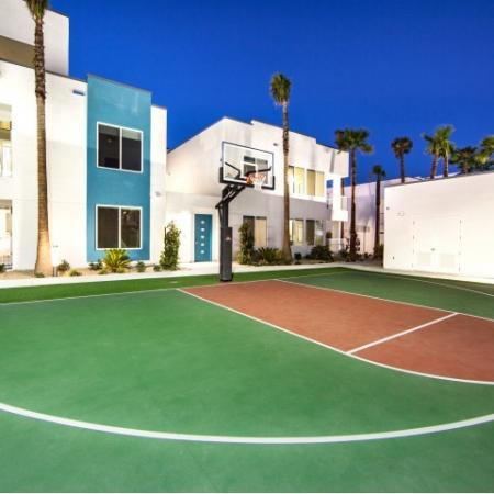 Basketball court at South Beach apartments in Las Vegas, NV