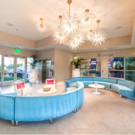 Leasing lobby at South Beach apartments in Las Vegas, NV