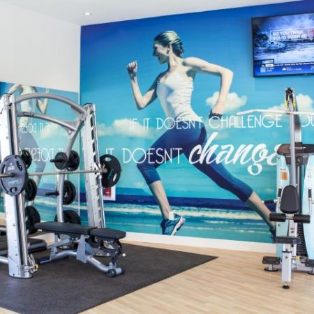 Fitness center at South Beach apartments in Las Vegas, NV