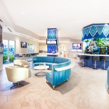 Social lounge at South Beach apartments in Las Vegas, NV