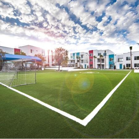 Sports field at South Beach apartments in Las Vegas, NV