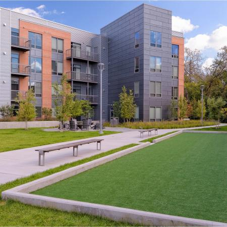 Enjoy a friendly game of bocce ball at 7001 Arlington Apartments in Bethesda, MD