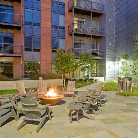 Outdoor firepit community area
