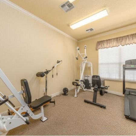 Cardio room at Parkway Senior Apartments in Pasadena TX
