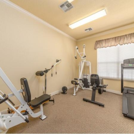 Cardio room at Parkway Senior Apartments in Pasadena TX