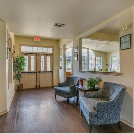Clubhouse entrance at Paradise Oaks Apartments in Austin TX