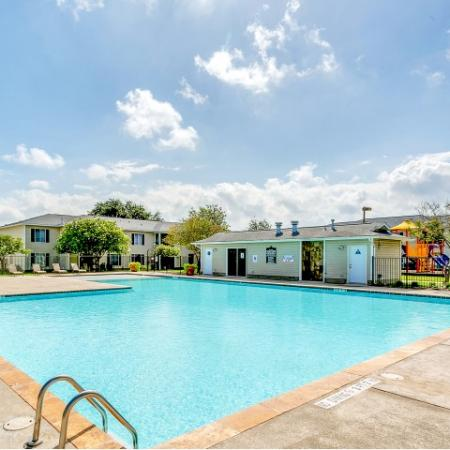 Pool with deck at Paradise Oaks Apartments in Austin TX