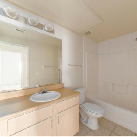 Spacious bathrooms at Parkway Senior Apartments in Pasadena TX