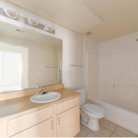 Spacious bathrooms at Parkway Senior Apartments in Pasadena TX