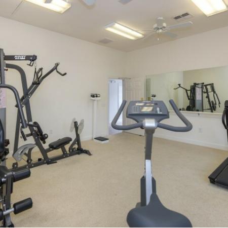 Fitness center at Whispering Oaks in Portsmouth, VA