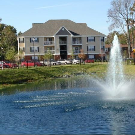 Water feature at Whispering Oaks in Portsmouth, VA