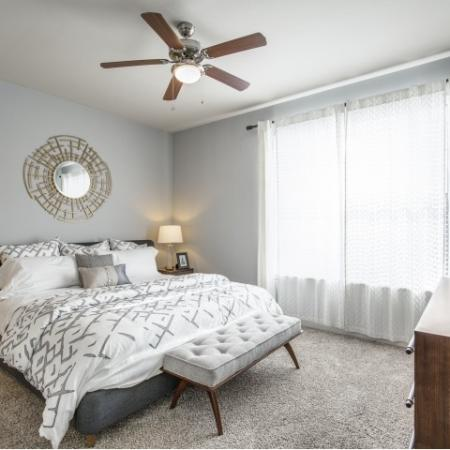 Bedroom at Montfair at the Woodlands apartments in Houston TX