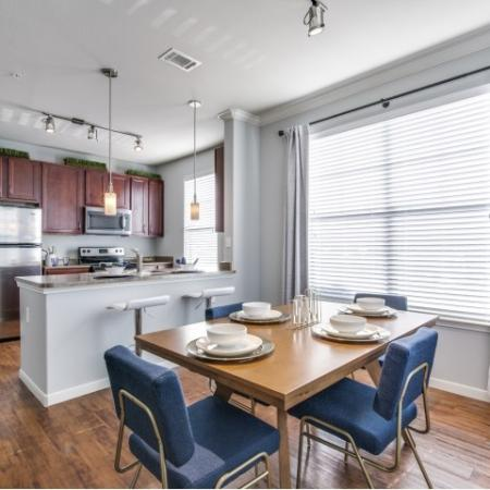 Dining area at Montfair at the Woodlands apartments in Houston TX