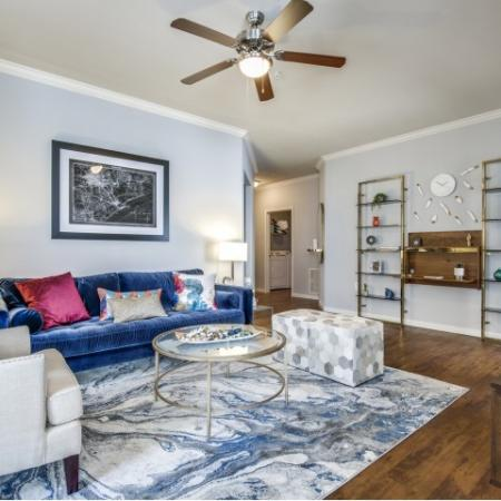 Living room at Montfair at the Woodlands apartments in Houston TX