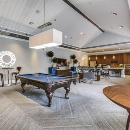 Billiards at Montfair at the Woodlands apartments in Houston TX