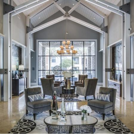 Clubhouse entrance at Montfair at the Woodlands apartments in Houston TX
