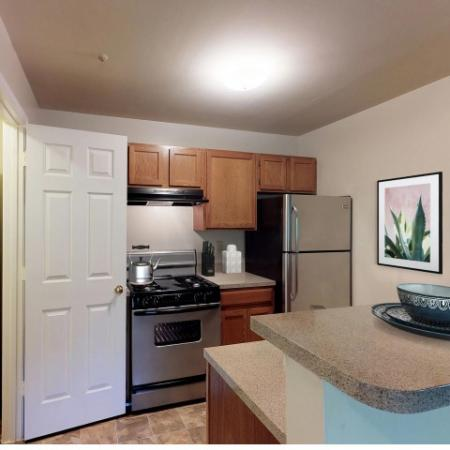 1 bedroom kitchen at Adler at Waters Landing in Germantown MD