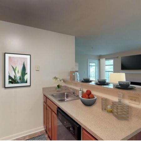 1 bedroom kitchen at Adler at Waters Landing Germantown MD