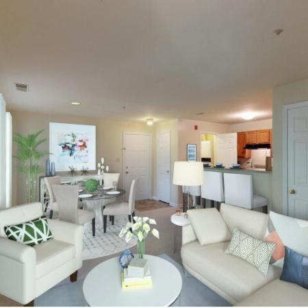 Living space at Adler at Waters Landing in Germantown MD