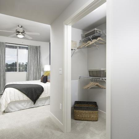 Closet at Vela on OX Apartments in Woodland Hills CA
