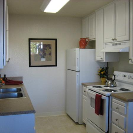 Model kitchen at Riverstone Apartment Homes in Antioch CA