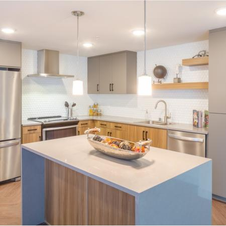 Kitchen at Aliso Apartments in Los Angeles CA