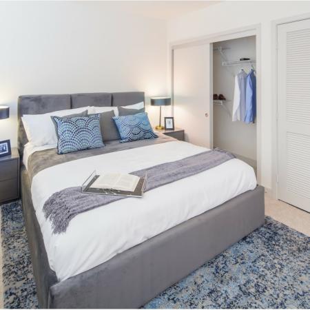 Loft bedroomat Aliso Apartments in Los Angeles CA