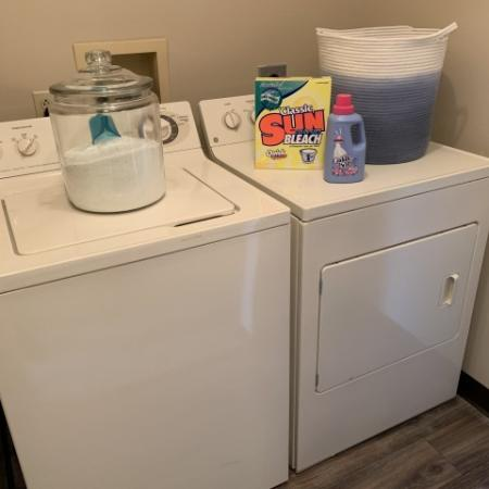 Utility Room with full size washer and dryer at Westchester Townhomes Rental Homes in Westlake, OH