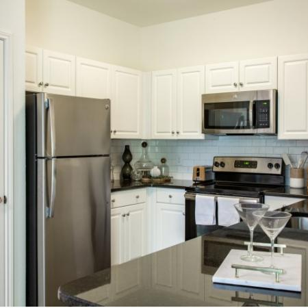 Kitchen at Heritage on the Merrimack Apartments in Bedford NH