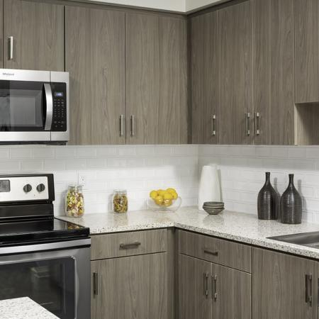 Kitchen at Vela on OX Apartments in Woodland Hills CA