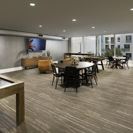 Game room at Vela on OX Apartments in Woodland Hills CA