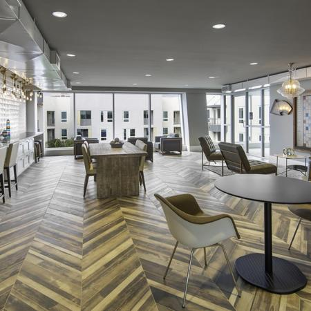 Coworking lounge at Vela on OX Apartments in Woodland Hills CA