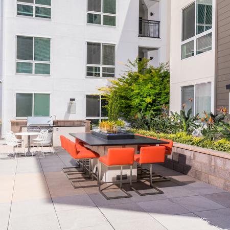 Rooftop lounge at 808 West Apartments in San Jose CA