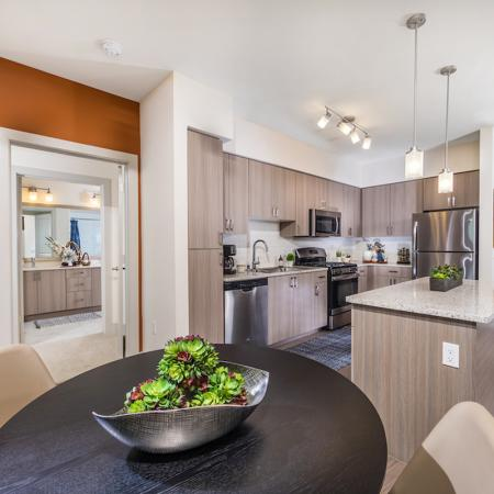 Kitchen and dining room at 808 West Apartments in San Jose CA